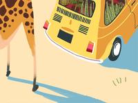 Giraffe & Car