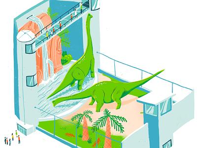 The Brachiosaurus Garden zoo animals theme brachiosaurus park jurassic dinosaurs dino