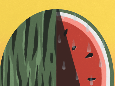 La Sandia - The Watermelon delicious watermelon mexican folk art folk game art card game digital art hand drawn drawing procreate bingo loteria food melon digital drawing illustration