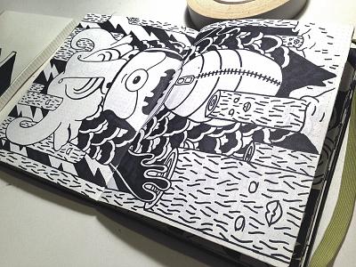sketchook excerpt #1 sharpies illustration hand drawn sketch