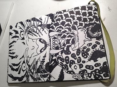 Sketchbook Excerpt #2 sharpie illustration hand drawn sketch