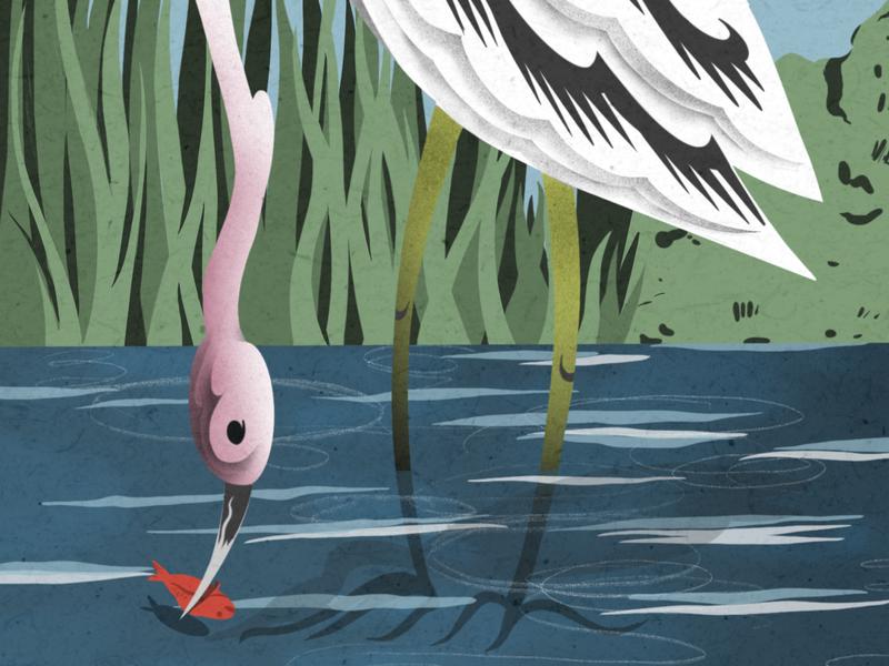 La Garza - The Heron animal illustration animal art swan heron bird art nature bird game art product design hand drawn procreate art procreate app procreate