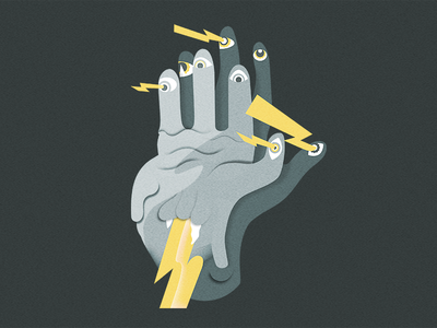 Double hand character design vector illustration