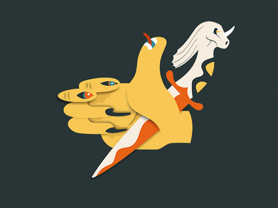 Fingernail Eyes Pc character design illustrator vector