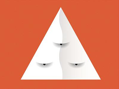 All seeing illuminati character design vector illustration