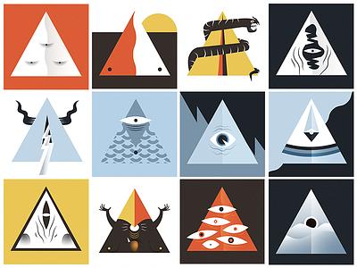 Sample Characters - Illuminati posse illuminati character design vector illustration