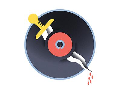 dagger eye all-seeing-eye prints character design illustrator vector