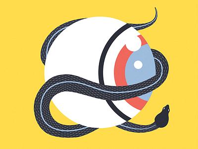 Serpent Eye all-seeing-eye prints character design illustrator vector