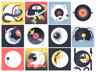 All-Seeing Eyballs all-seeing-eyeo prints character design illustrator vector