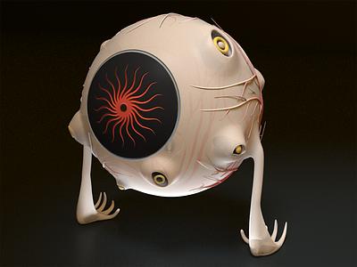 All-Seeing Eye 3dillustration illustration mesmerize spooky allseeing modo 3d characterdesign