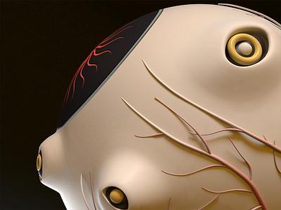 Side Profile 3dillustration illustration mesmerize spooky allseeing modo 3d characterdesign