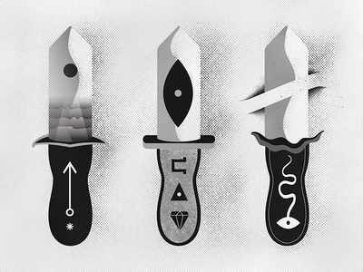 Athame procreateapp illustrator black and white illustration vector halloween