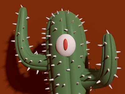 Cact-Eye cactus mexico 3dillustration character design 3d modo