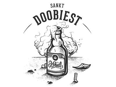 Sankt Doobiest sankt pauli st. pauli sankt doobiest 10x10 perknopfdruck shirt hamburg pyro bottle beer sanktpauli st.pauli