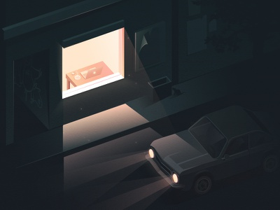"""Night Scene nightscene night scene dark light home """"car at night illustration street night car"""