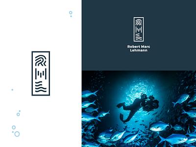 Robert Marc Lehmann corporate design logo blue fightfortheworld rml robertmarclehmann photographer scientificdiver marinebiologist marine diving