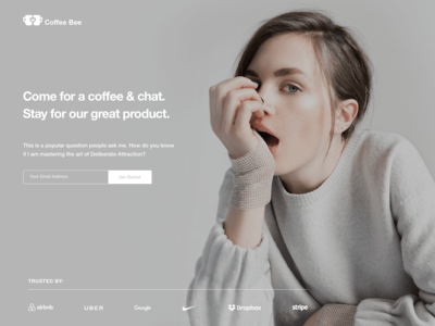 Coffee Bee Chat Landing Page