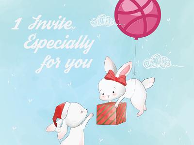 Dribbble Invite gift want message free give new invite invitaion dribbble