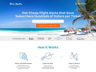 Travel Cheaters Cheap Flight Alert Website graphic design branding