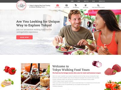 XploreTokyo Unique Place for Food graphic design typography branding