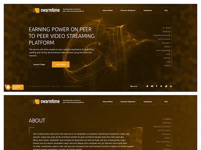 Swarmtime Peer To Peer Video Streaming ux graphic design typography branding