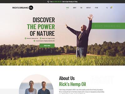 Rick Hemp Organic Oil typography ux graphic design branding
