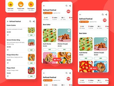 GoFood's New Merchant Profile (Gojek) asphalt aloha animation gojek design merchant food ui food delivery food product food design gofood design gojek