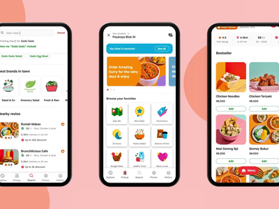 New GoFood - Gojek redesign animation food delivery food app gojek gofood