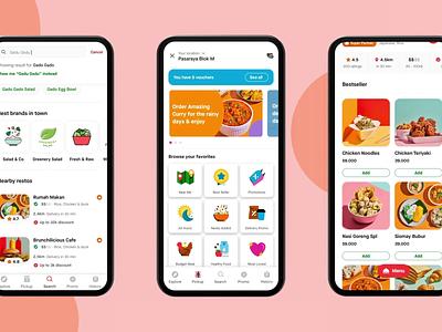 New GoFood - Gojek redesign animation food delivery food app gojek gofood