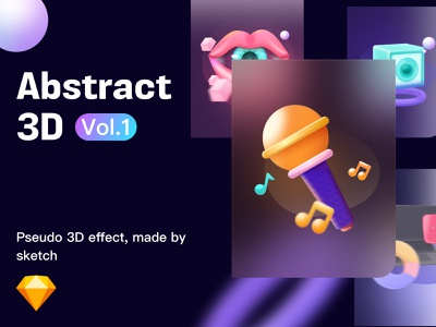 Abstract 3D ui