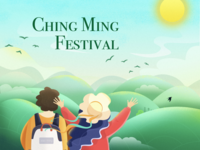 Ching Ming Festival illustration
