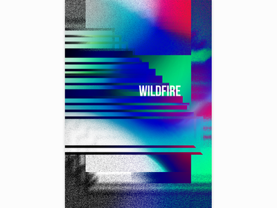 Wildfire by SBTRKT poster music graphicdesign design