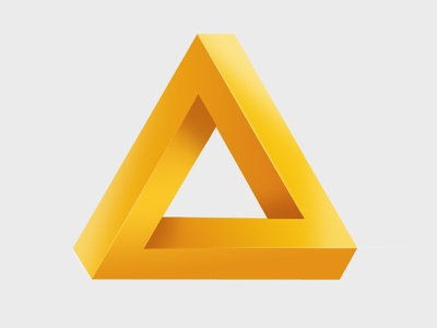 Impossible Triangle icon triangle photoshop