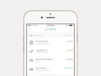 Banking app balance & transactions
