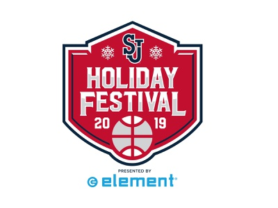 St. John's Holiday Festival kids vector branding college blue red basketball sports