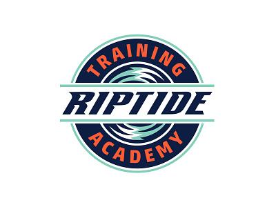 New York Riptide Training Academy logo branding vector lacrosse kids camp beach wave blue sports
