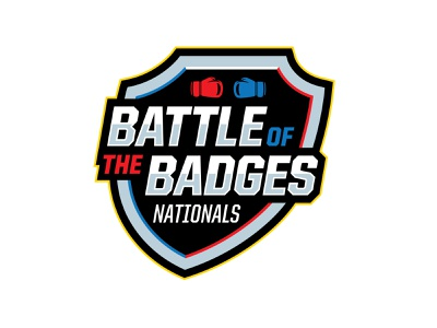 Battle of the Badges Nationals red blue vector illustration logo branding boxing sports