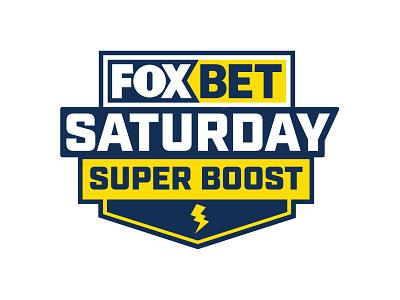 Fox bet Saturday Super Boost online gambling vector branding blue illustration sports logo