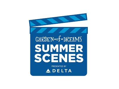 Garden of Dreams Summer Scenes charity star summer film blue vector logo