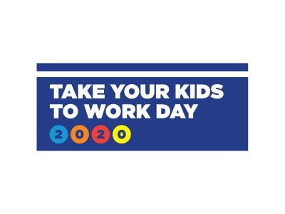 MSG Take your Kids to Work Day book blue red poster kids logo branding vector sports