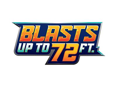 Blaster 72 typography logo fast toys sport kids