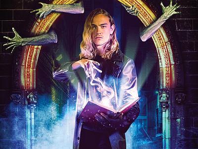 The Magician's Shadow - Cover horror design novel colors book art magic book