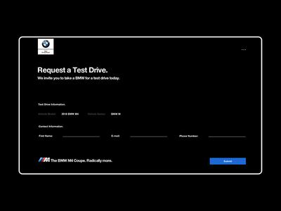 BMW M4 promo site