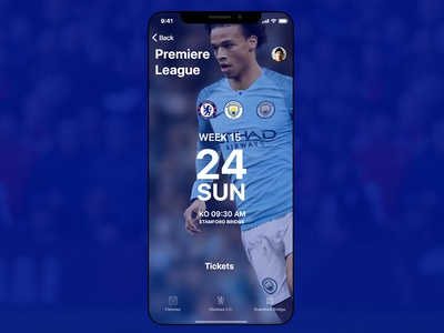 Chelsea App Dribbble