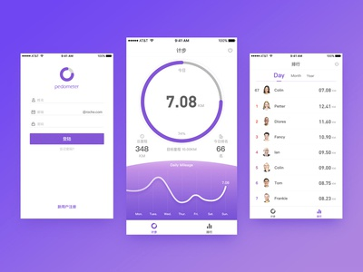 Running App Interface