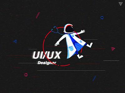 UI/UX Designer- workstation's Home page doctor station space design illustration workstation preparation flat designer ux ui astronauts