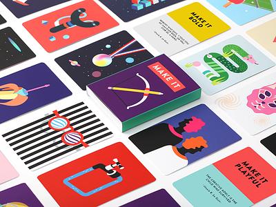 Make it Cards creativity technique set color make it quotes creativity inspiration cards card