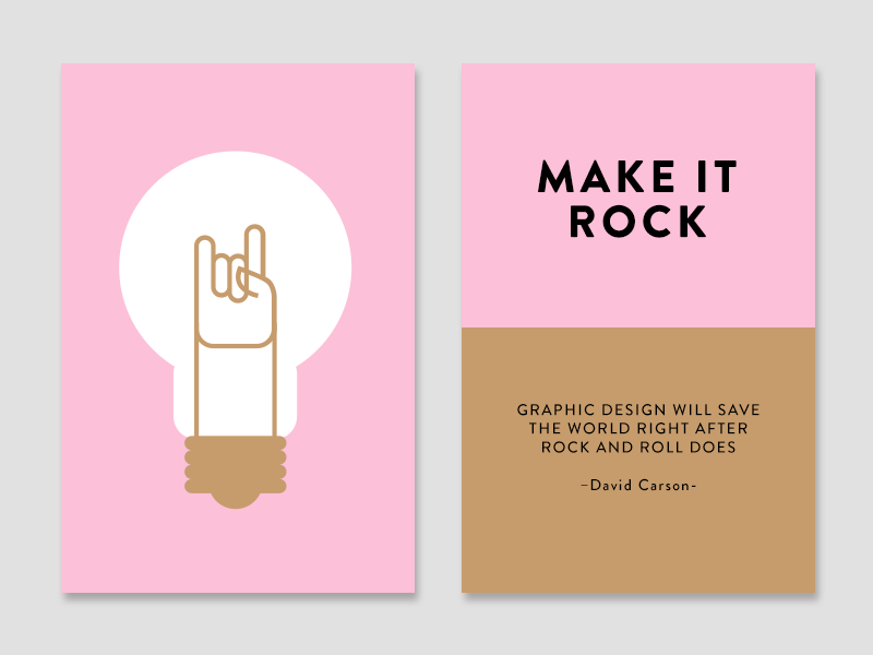 Make it Rock creativity technique color cards make it cards light bulb rock and roll rnr idea inspiration