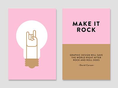 Make it Rock creativity technique color cards make it cards light bulb rock and roll rnr idea inspiration