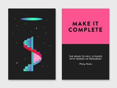 Make it Complete creativity technique stairway quote color stairs architecture inspiration cards creativity